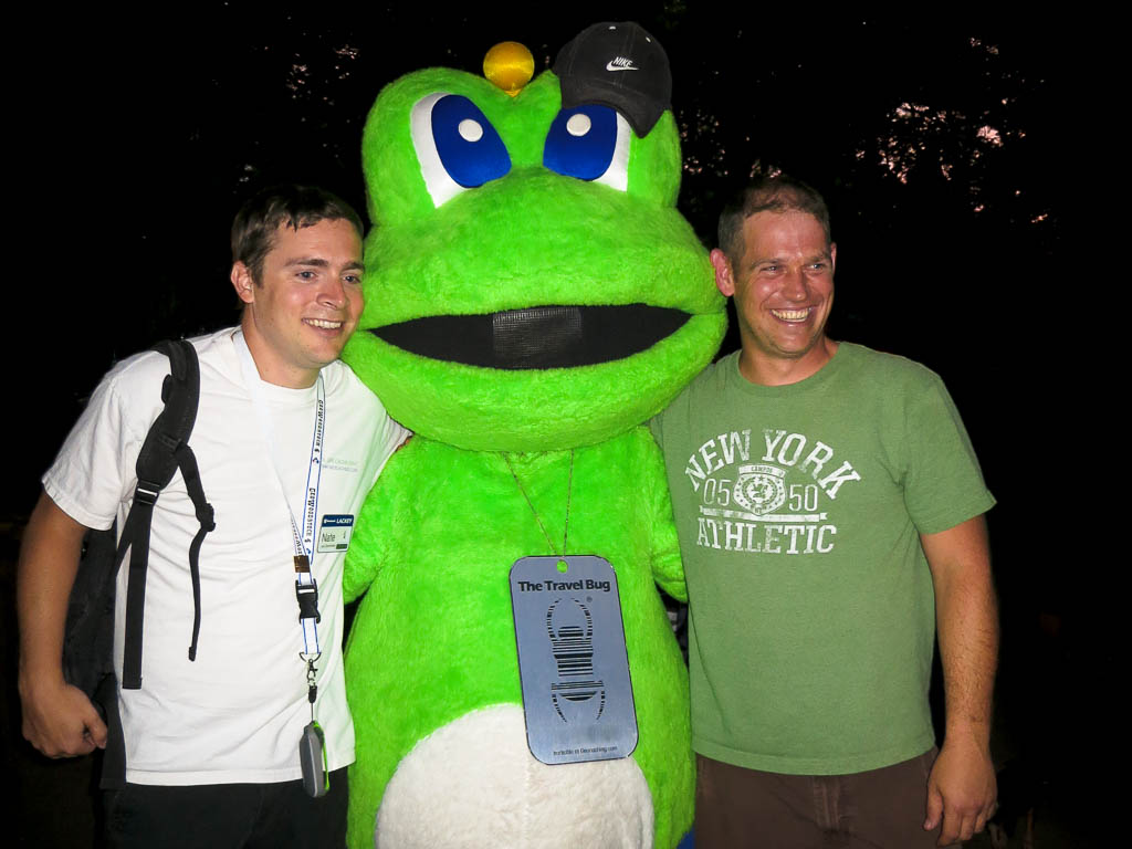 Signal the Frog, Lackley and a geocacher