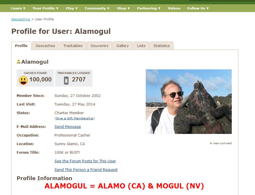 Profil uporabnika Alamogul