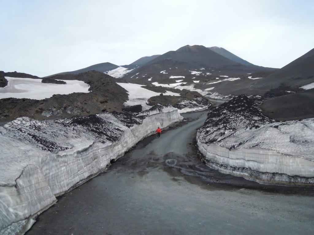 9. Snežni zameti na Etni.