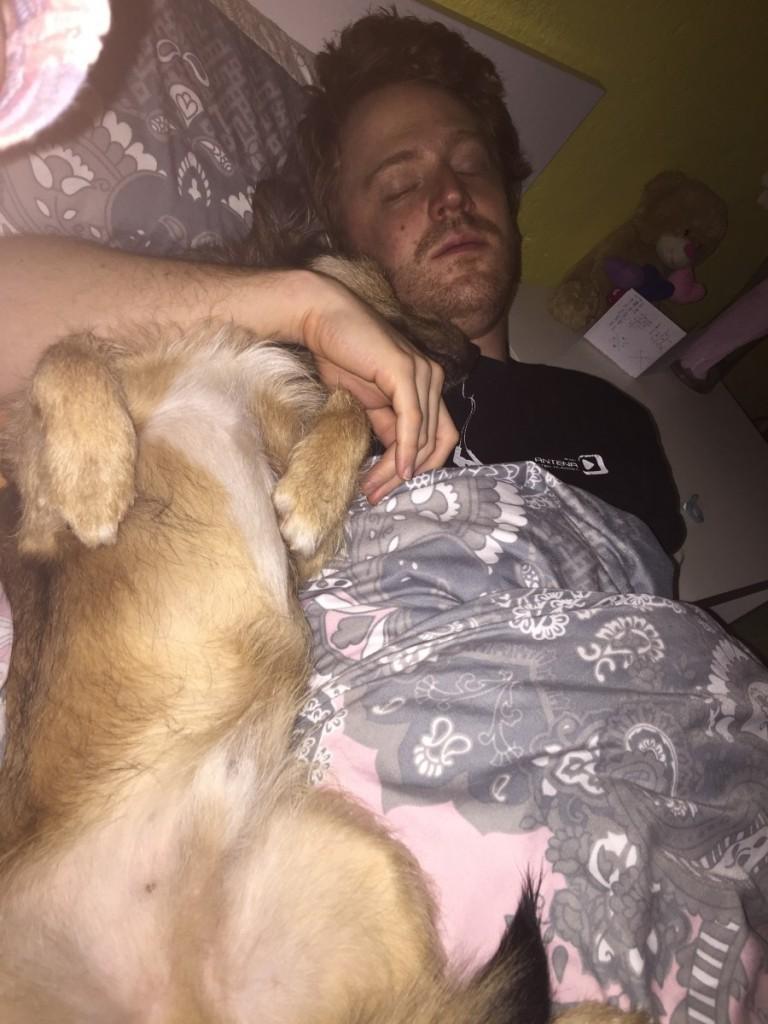 Od utrujenosti sva zaspala