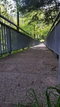 Tihožitje: most pod katerim je T5 in najdena žoga