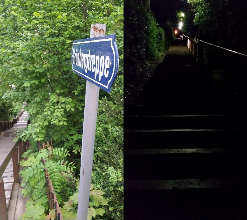 Mesto 1000-ih stopnic, večina jih ima celo svoja imena in table