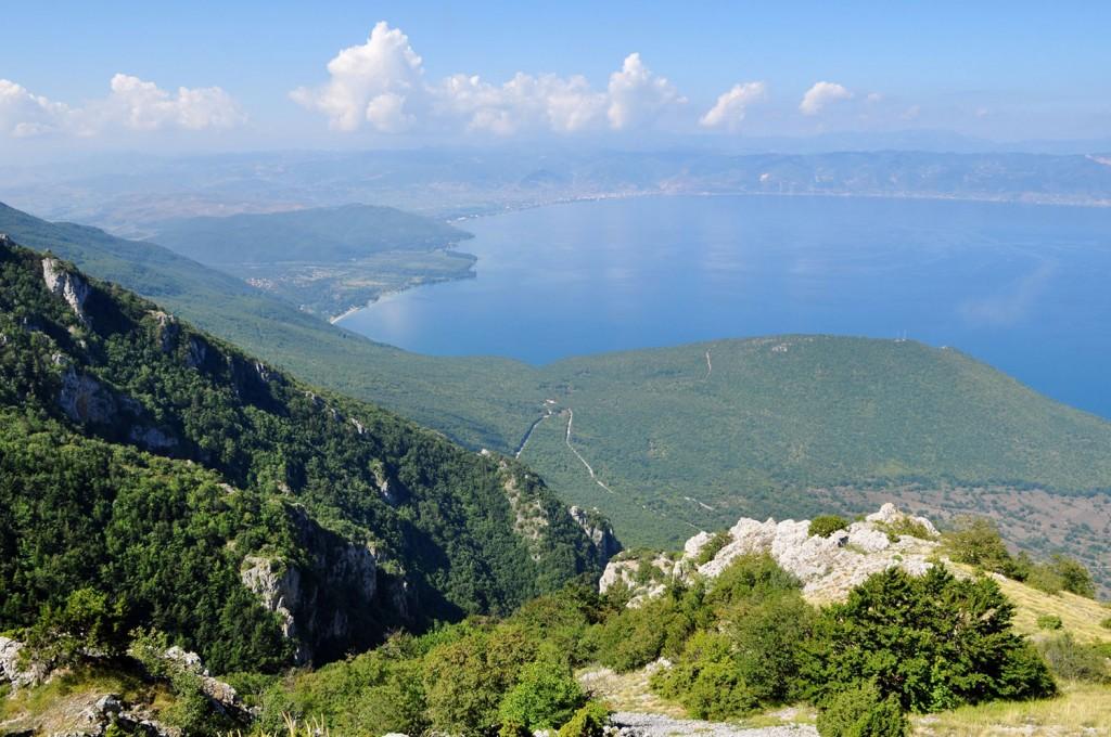 Ohridsko jezero od zgoraj.