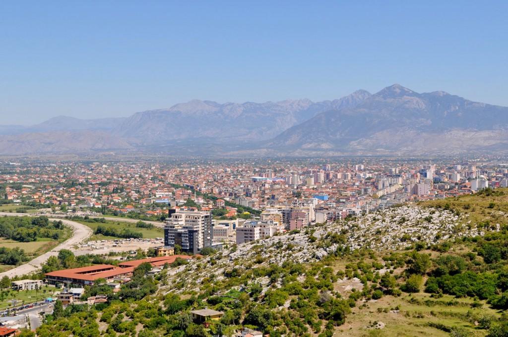 Pogled z gradu na Skadar.